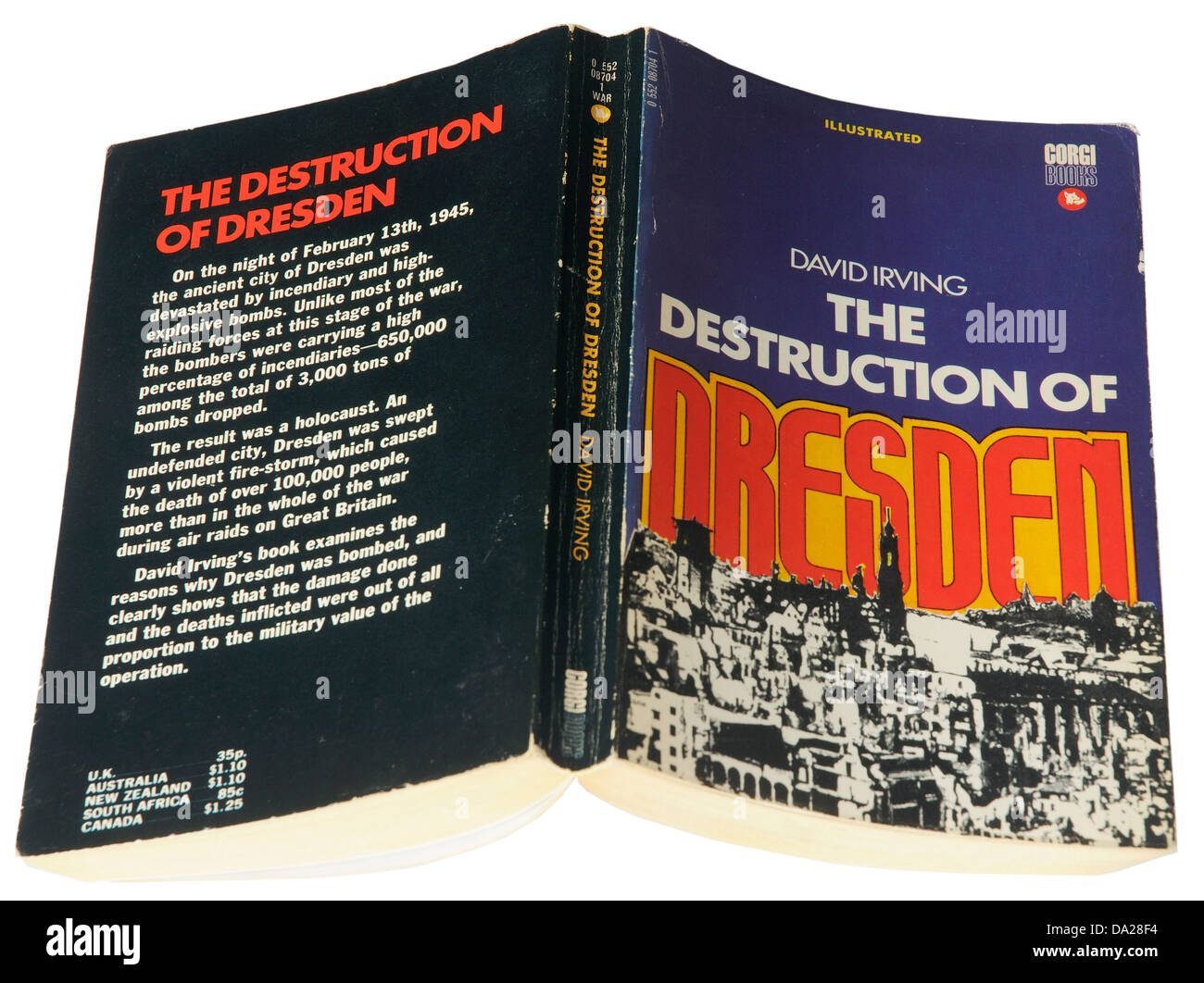The Destruction of Dresden by David Irving - Stock Image