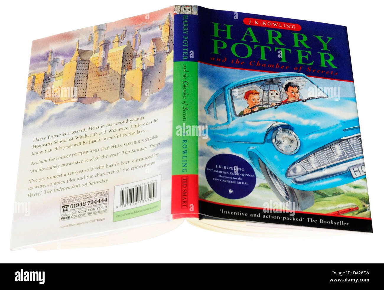 Harry Potter Book Two : Harry potter and the chamber of secrets stock photos