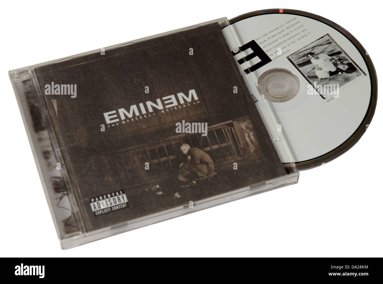 Eminem The Marshall Mathers LP on CD - Stock Image