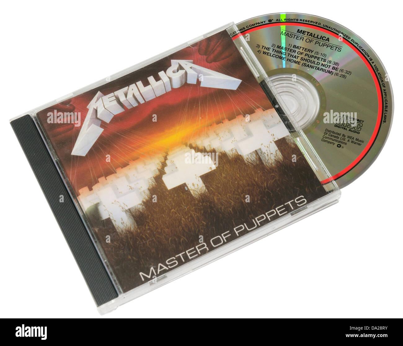 Metallica Master of Puppets album on CD - Stock Image