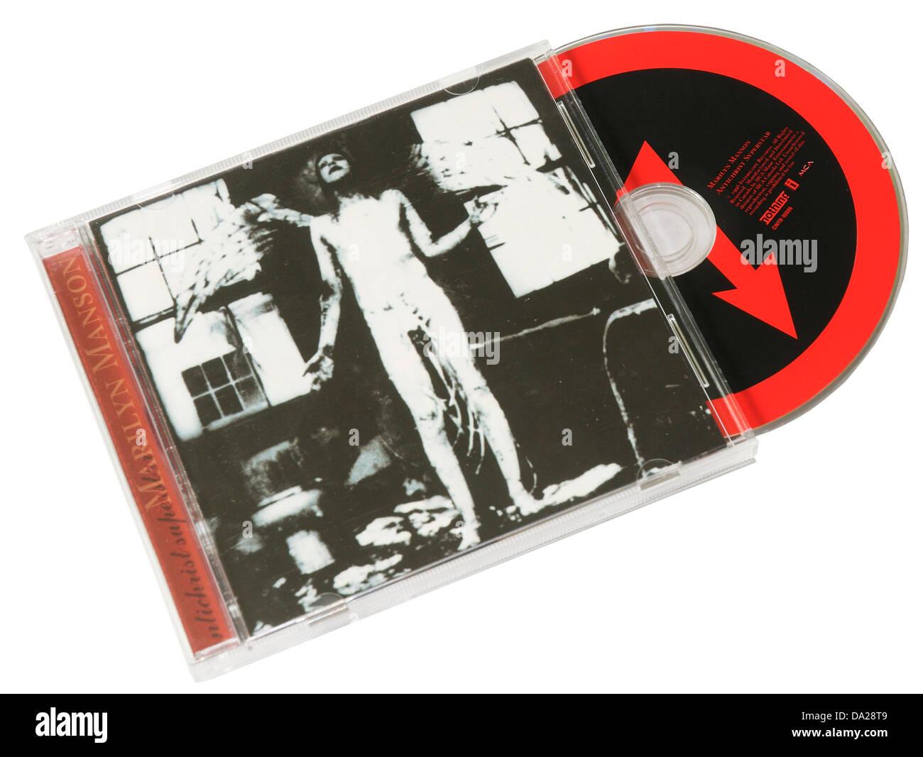 Marilyn Manson Antichrist Superstar album on CD - Stock Image
