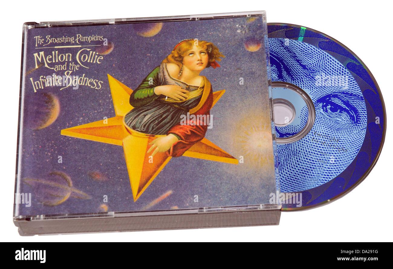 Smashing Pumpkins Mellon Collie and the Infinite Sadness album on CD - Stock Image