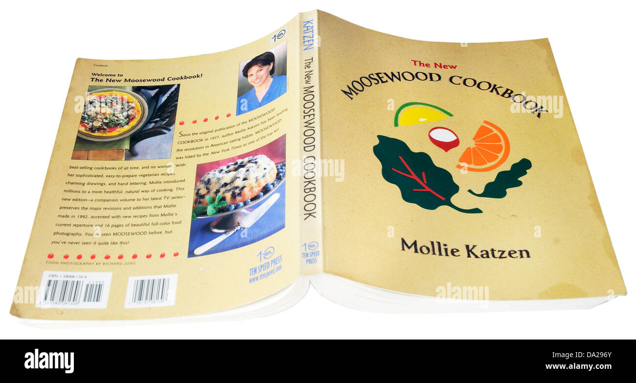 The famous Moosewood vegetarian cookbook by Mollie Katzen - Stock Image