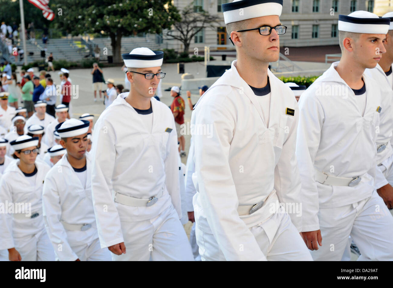 us naval academy incoming freshmen known as plebes march into the