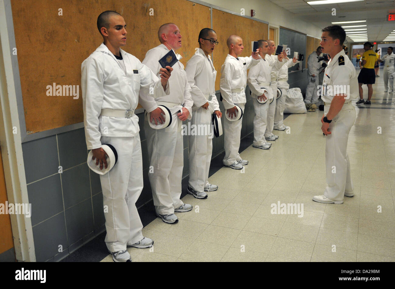 us naval academy incoming freshmen known as plebes study from reef
