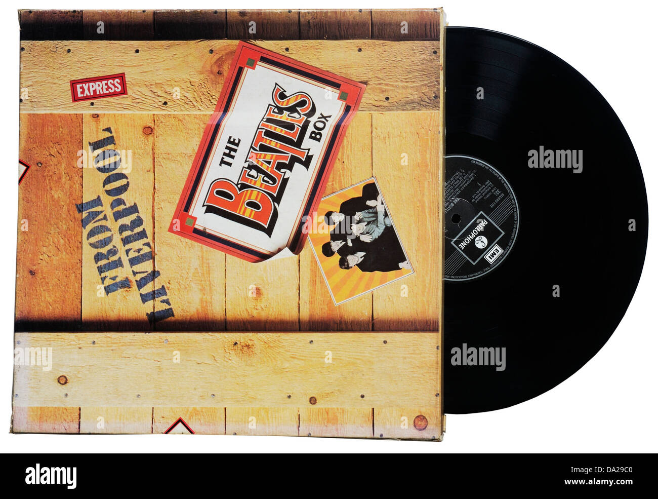 The Beatles Box compilation album - Stock Image