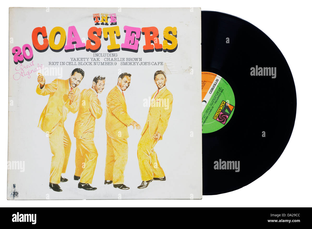The Coasters Greatest Hits album - Stock Image