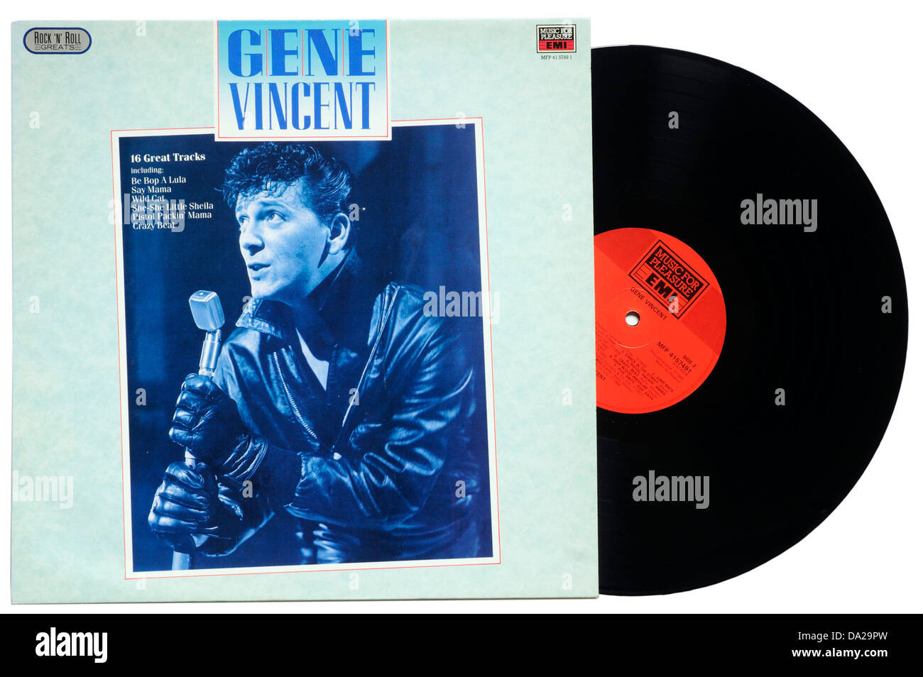 Gene Vincent Greatest Hits album - Stock Image