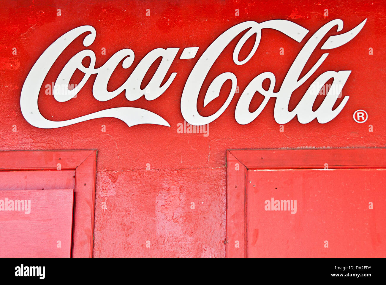 Coca Cola advertising sign - Stock Image