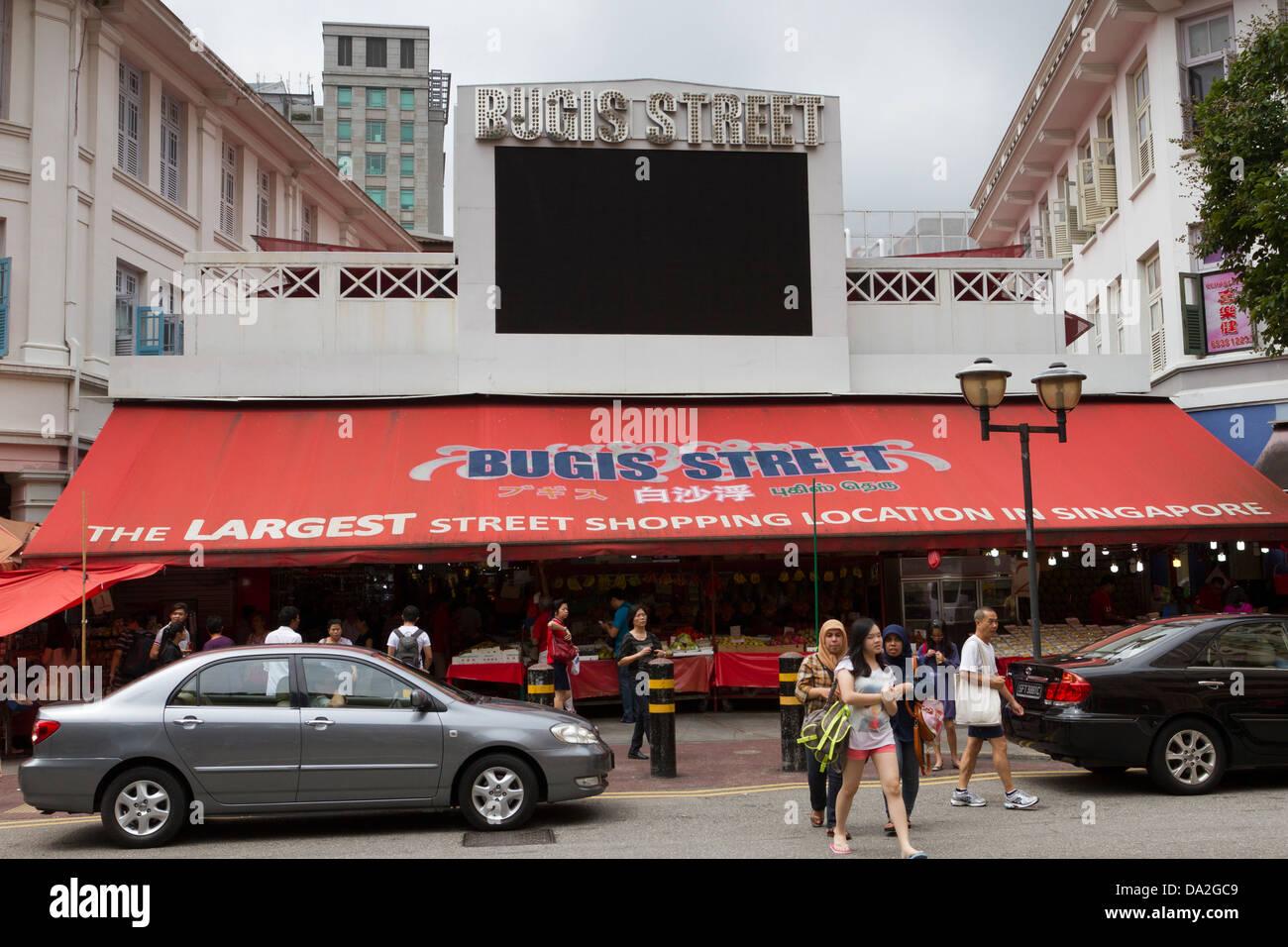 Bugis Street shopping arcade, Bugis, Singapore - Stock Image