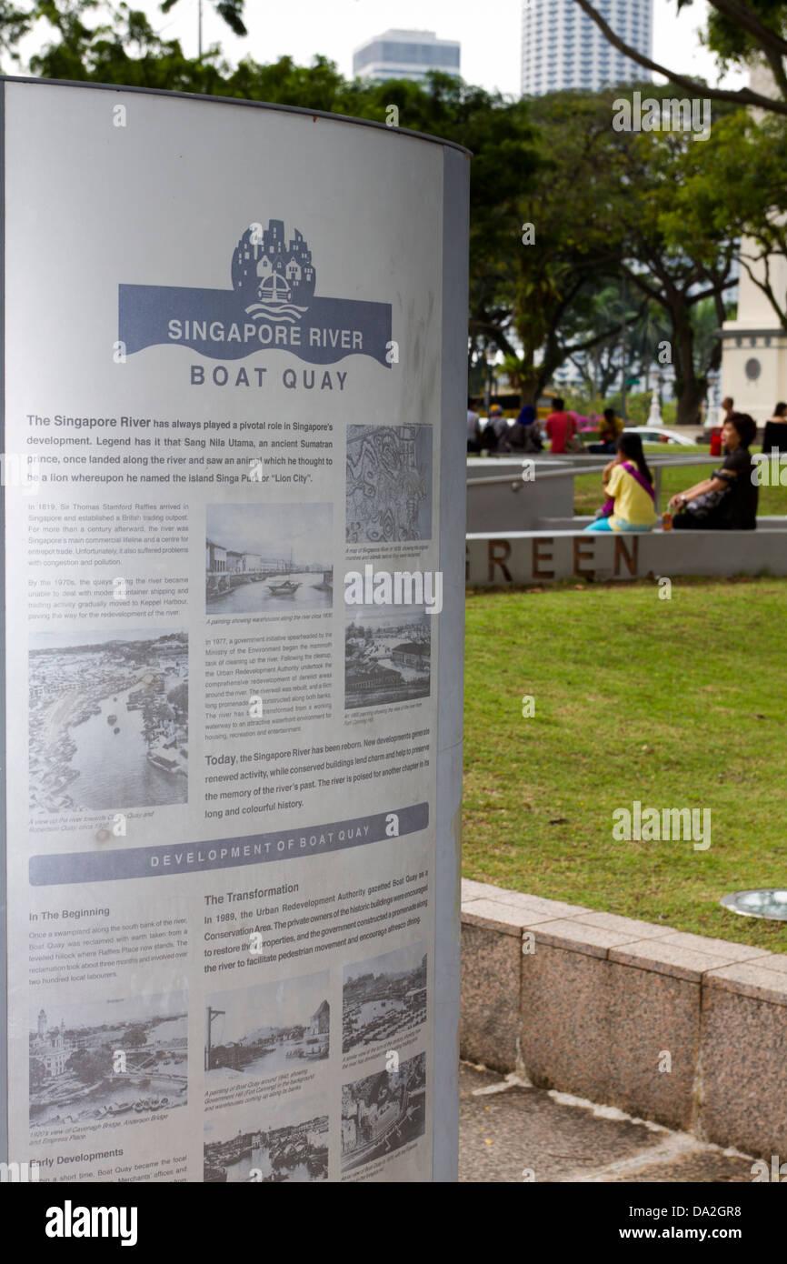 Boat Quay, Singapore - Stock Image
