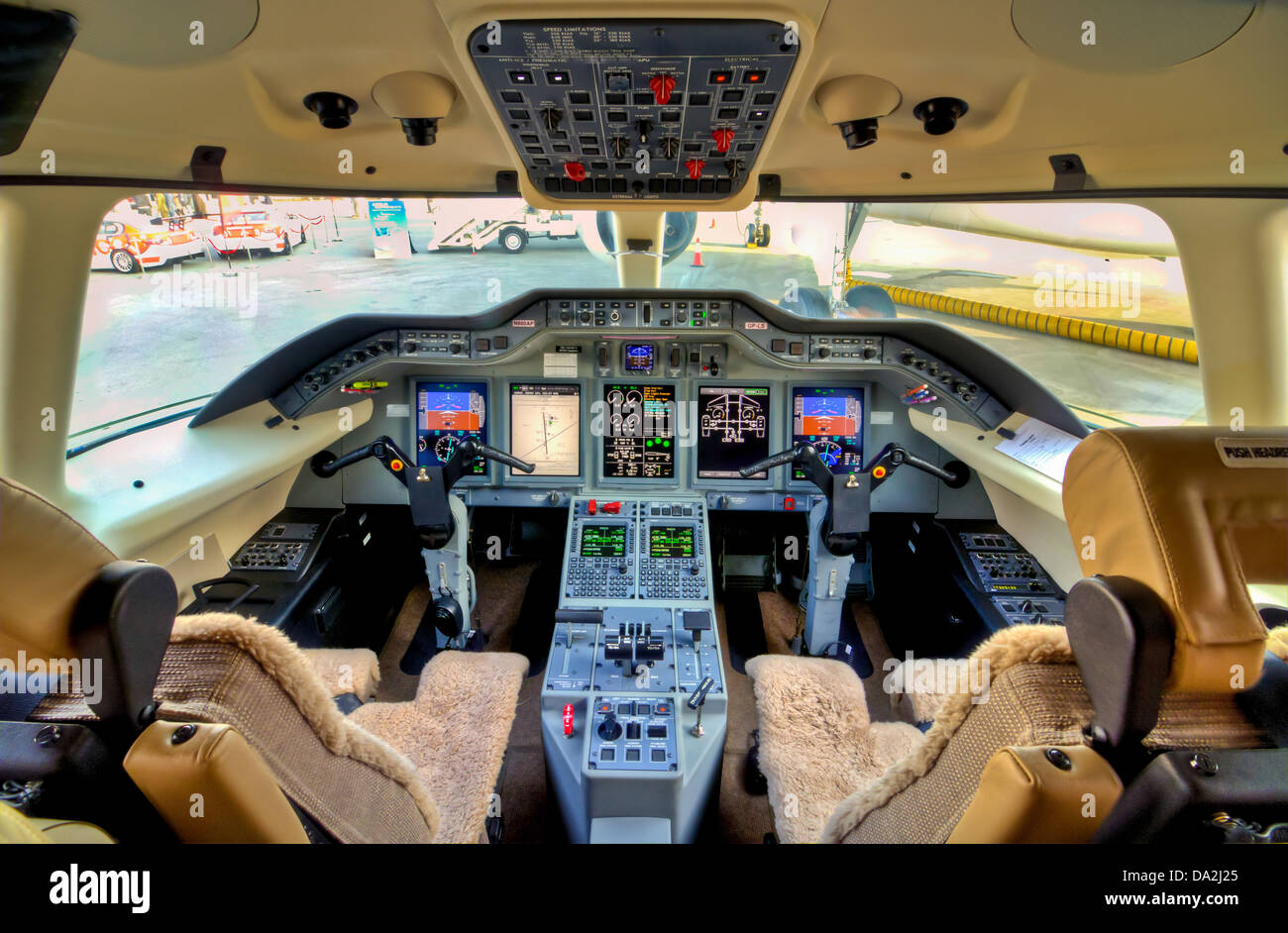 Cockpit View - Stock Image