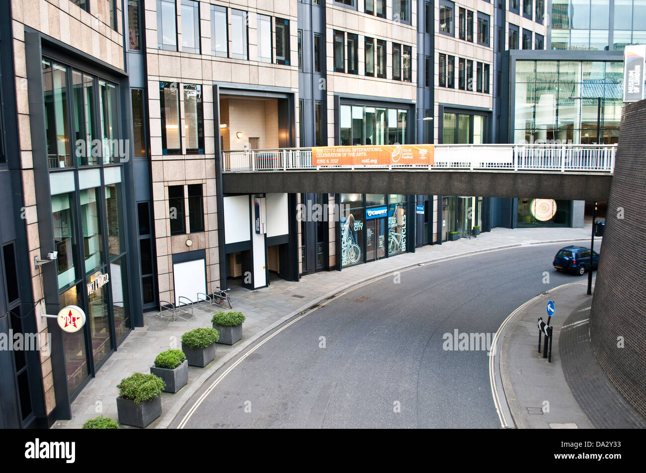 Roundabout at London Wall, City of London, UK - Stock Image