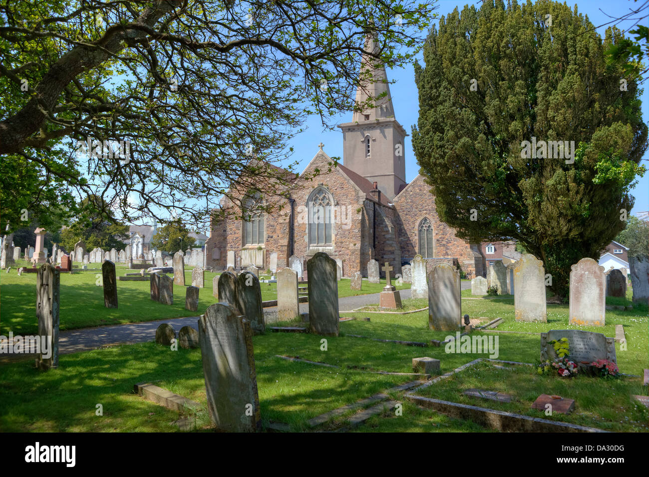 St Martin, Le Veux, parish church, Jersey, United Kingdom - Stock Image