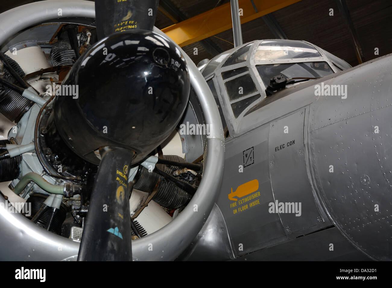 POST WAR RAF AVRO ANSON PISTON POWERED MULTI-PURPOSE AIRCRAFT. - Stock Image