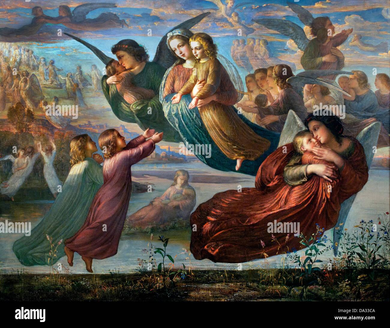 Souvenir du ciel - Remember the sky - Le poeme de l'ame - The poem of the soul by Louis Janmot 1814-1892 France - Stock Image