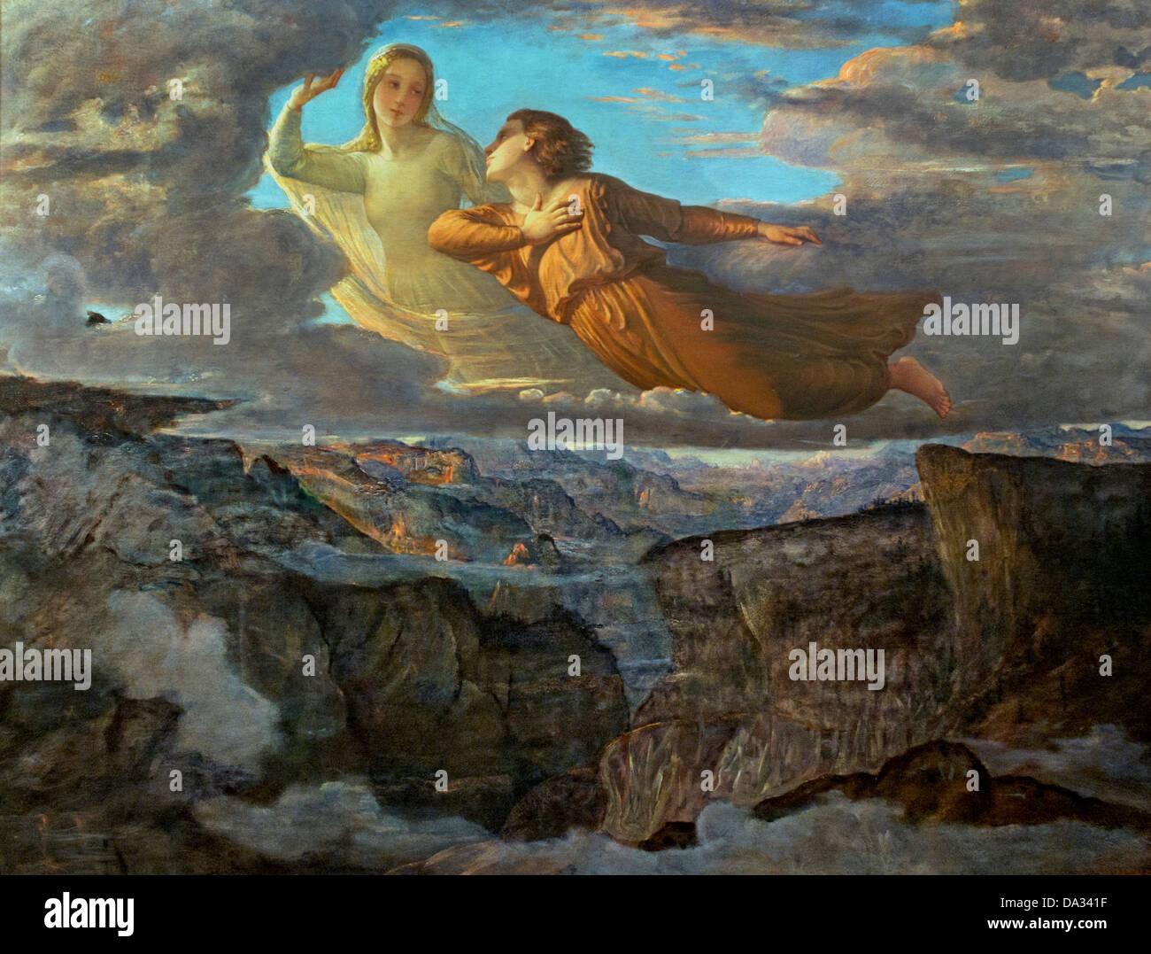 L'Idéal - The Ideal - Le poeme de l'ame - The poem of the soul by Louis Janmot 1814-1892 France - Stock Image