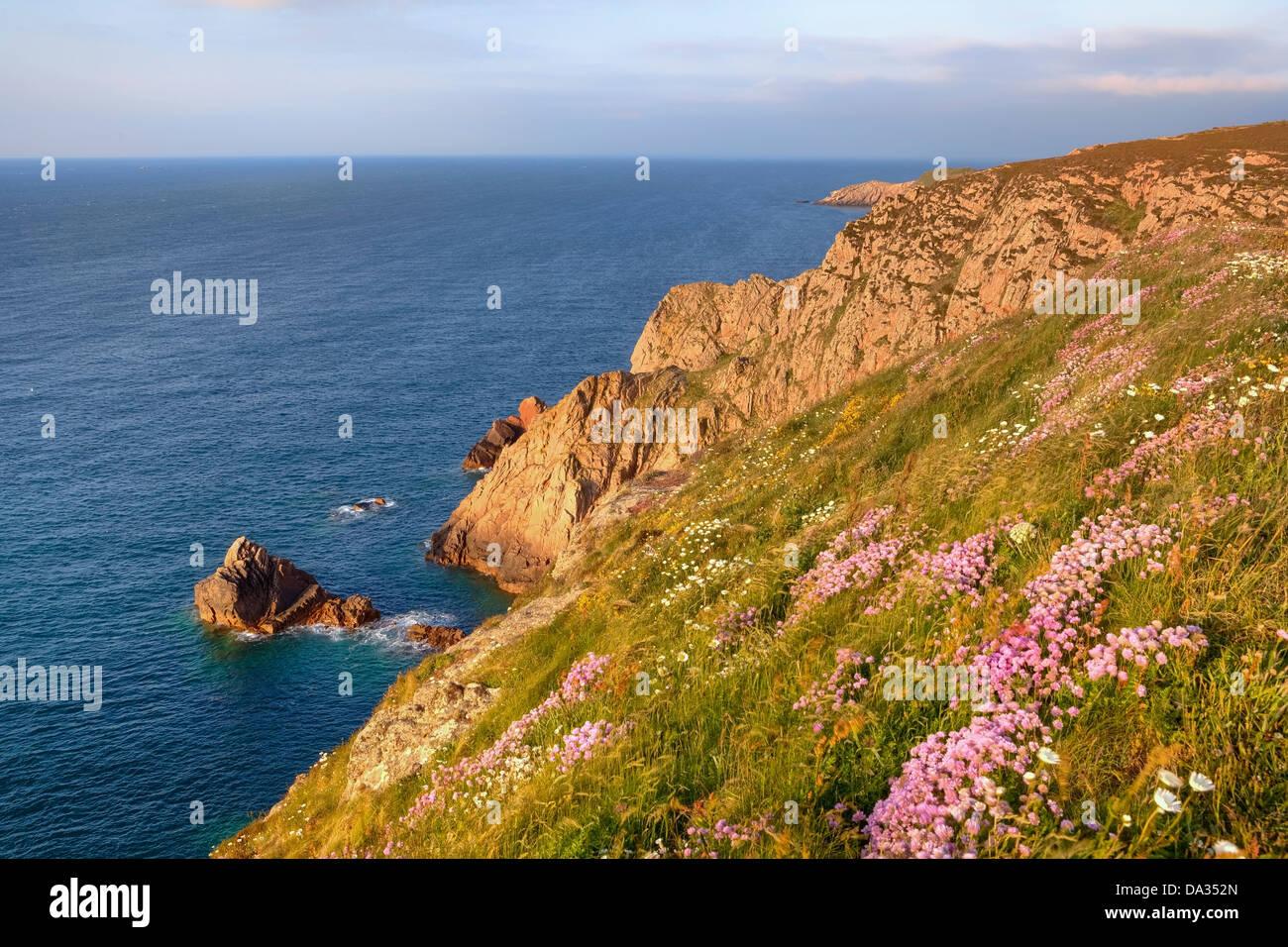 Les Landes coastline, Jersey, United Kingdom - Stock Image