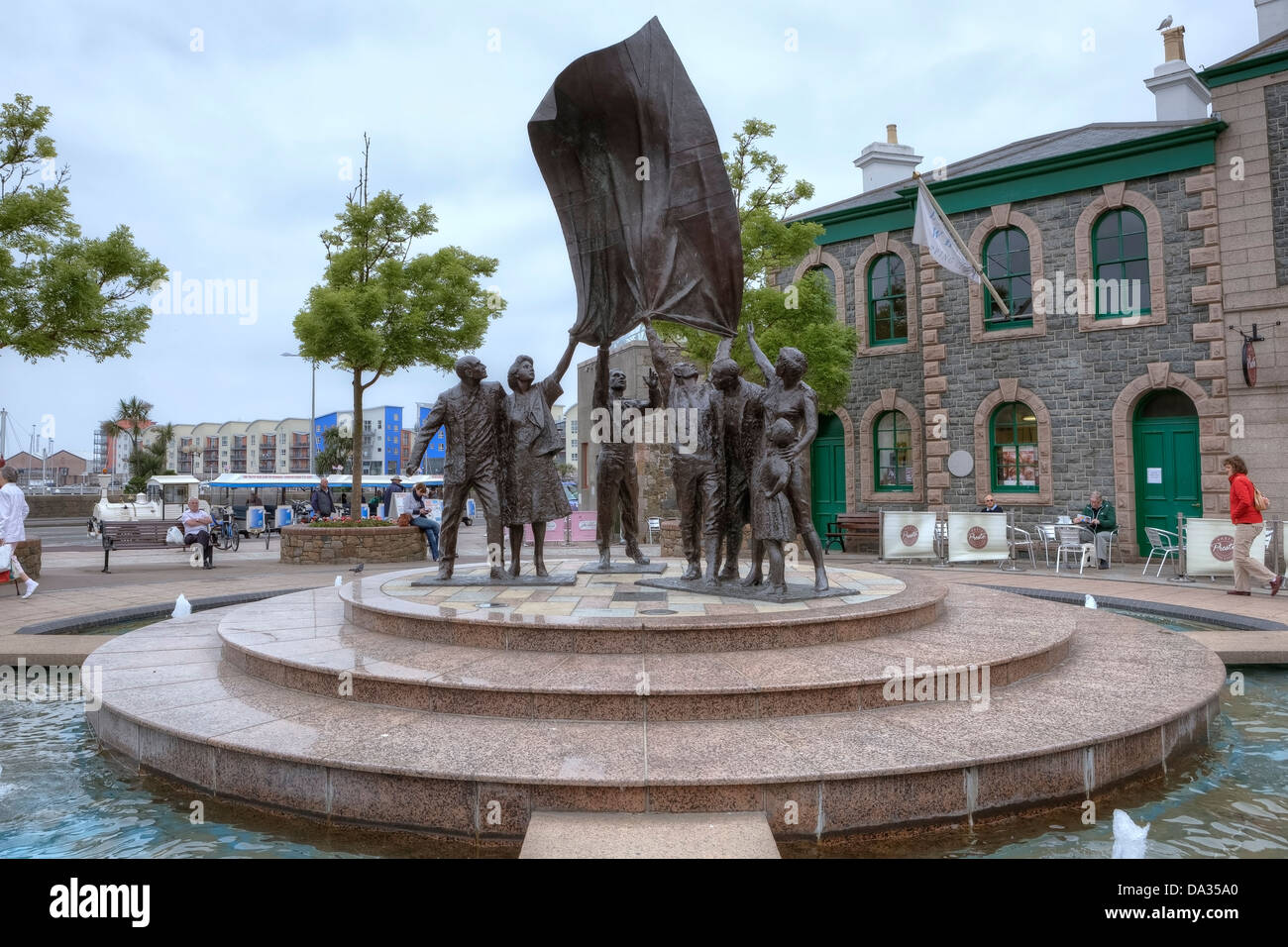 Liberation Square, St Helier, Jersey, United Kingdom - Stock Image