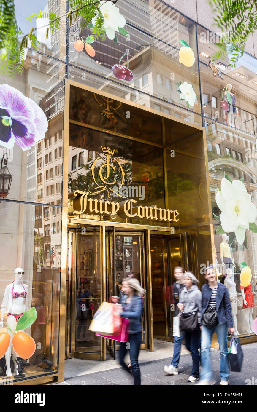 Juicy Couture Store, 650 Fifth Avenue, NYC - Stock Image