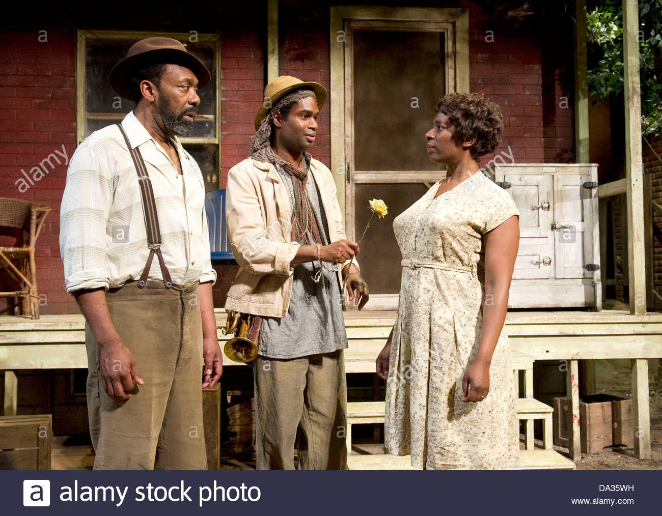 Fences by August Wilson . A Theatre Royal Bath production directed by Paulette Randall. With Lenny Henry as Troy Stock Photo