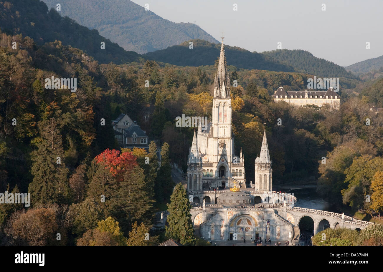 The Sanctuary of Our Lady of Lourdes, France Stock Photo