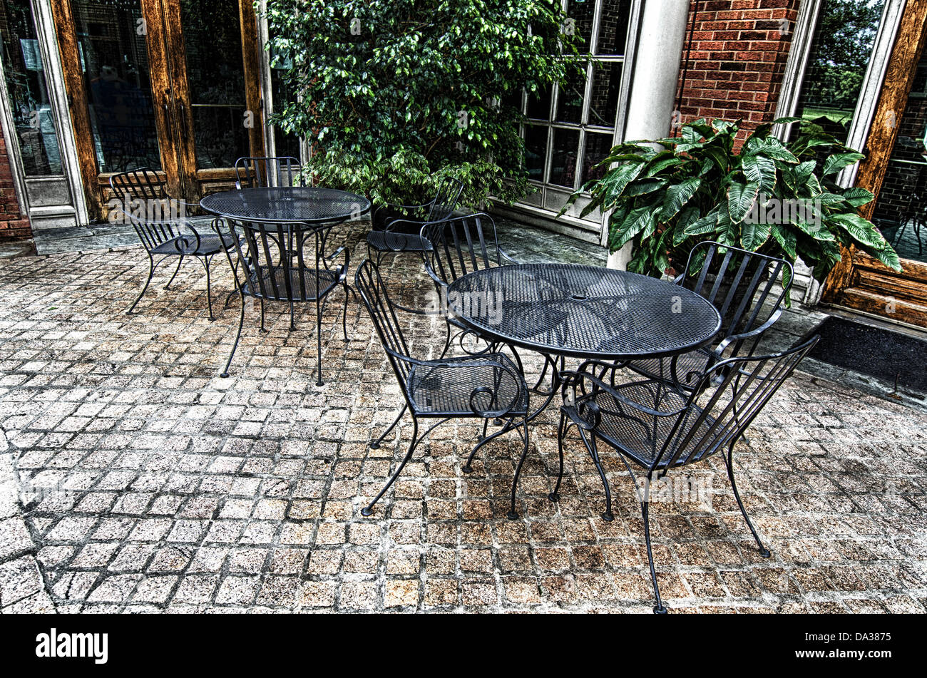 Wrought Iron Chairs Stock Photos Wrought Iron Chairs Stock Images