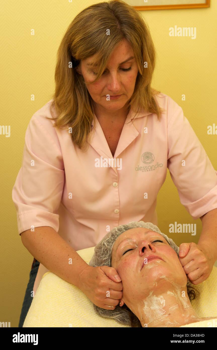 Facial massage - Stock Image