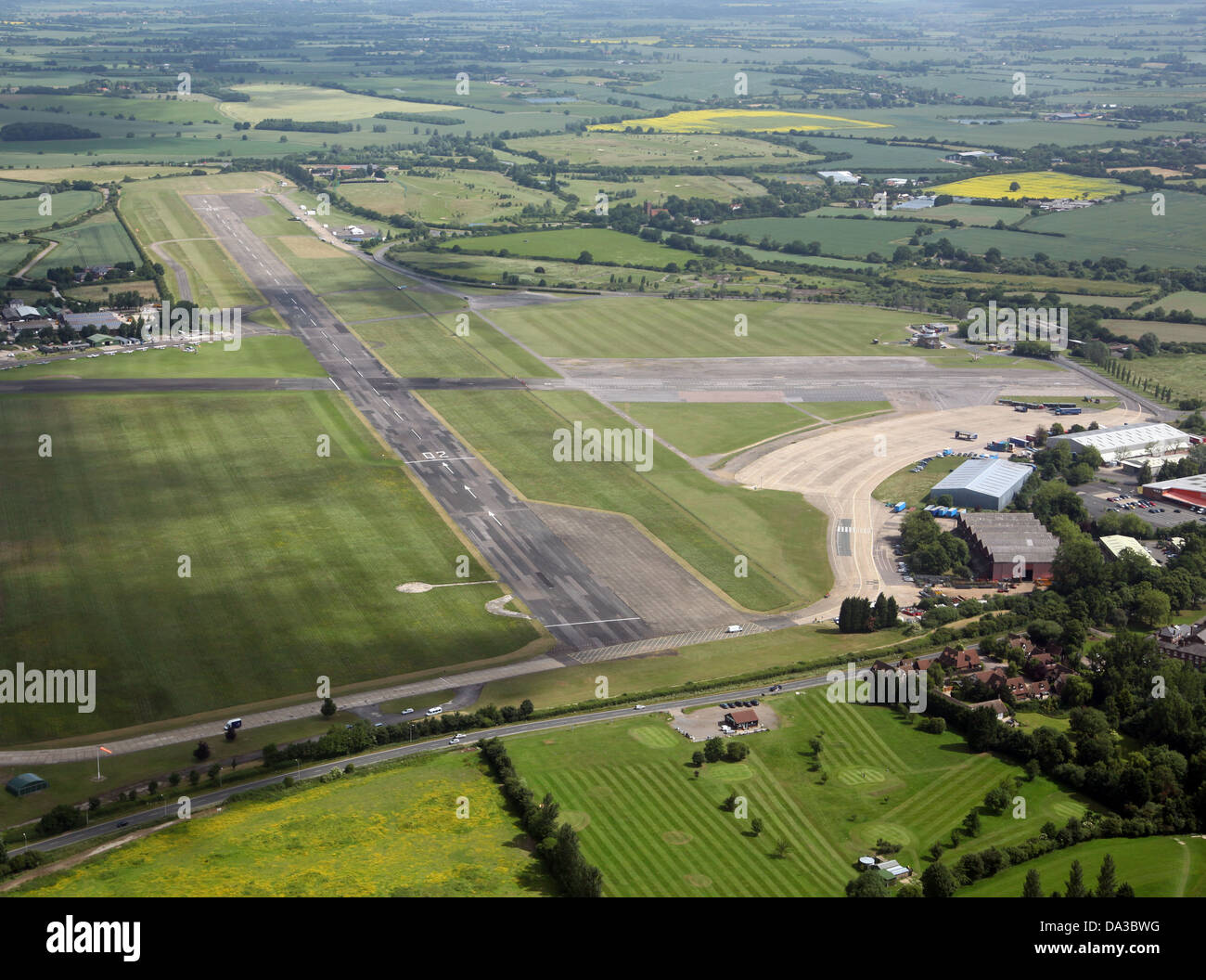 aerial view of North Weald Airfield in Essex - Stock Image
