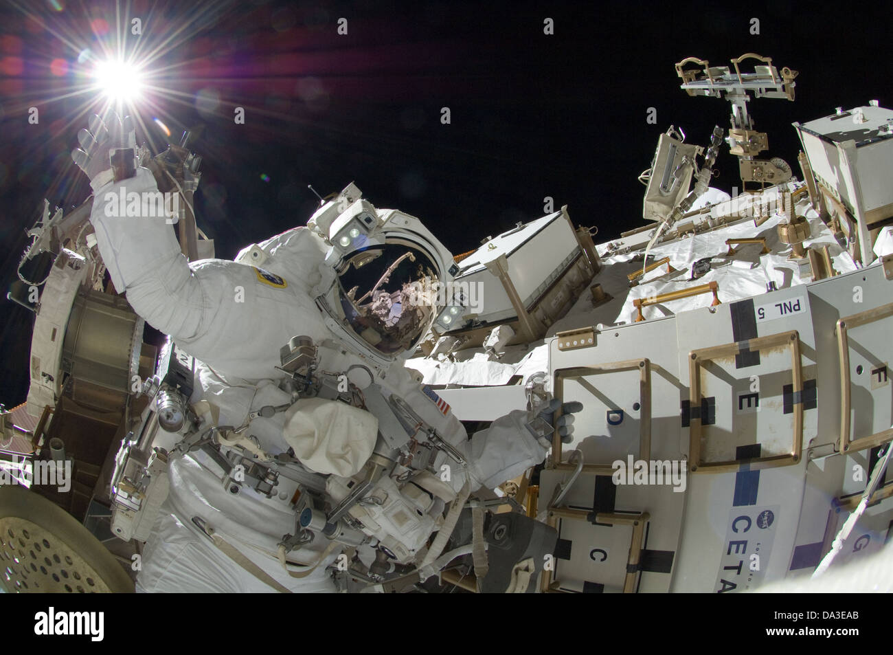 Space NASA International Space Station astronaut Sunita Williams, Expedition 32 flight engineer extravehicular activity - Stock Image