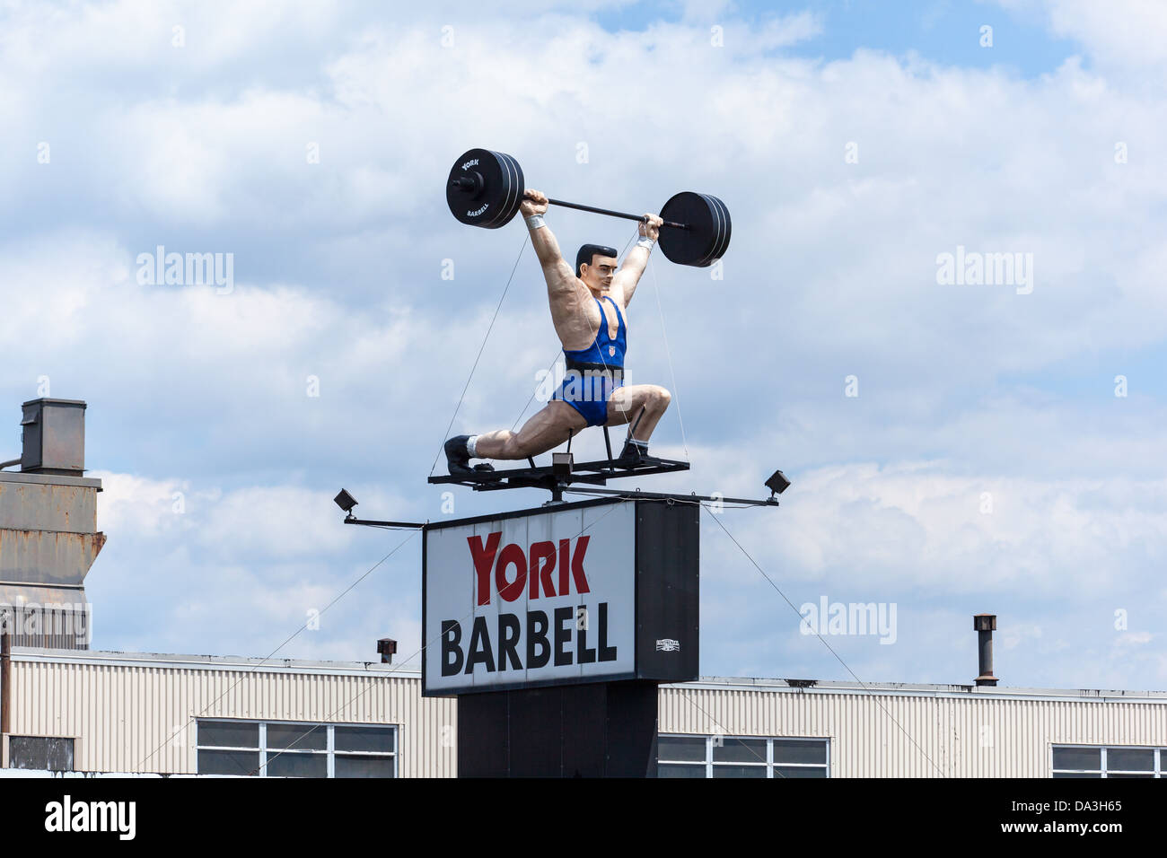 York Barbell sign. - Stock Image