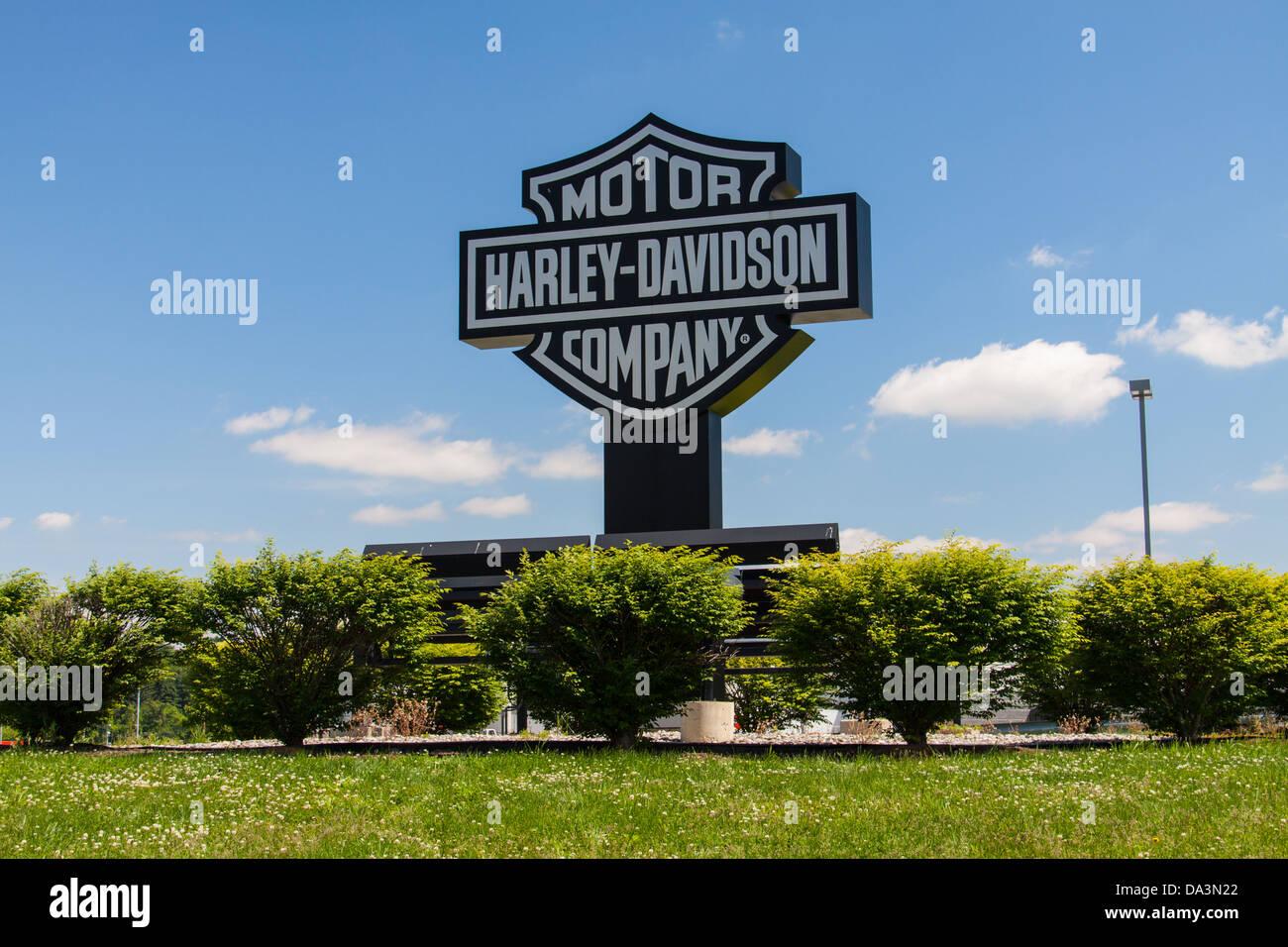 The Harley-Davidspm Motor Company factory at York, PA. - Stock Image