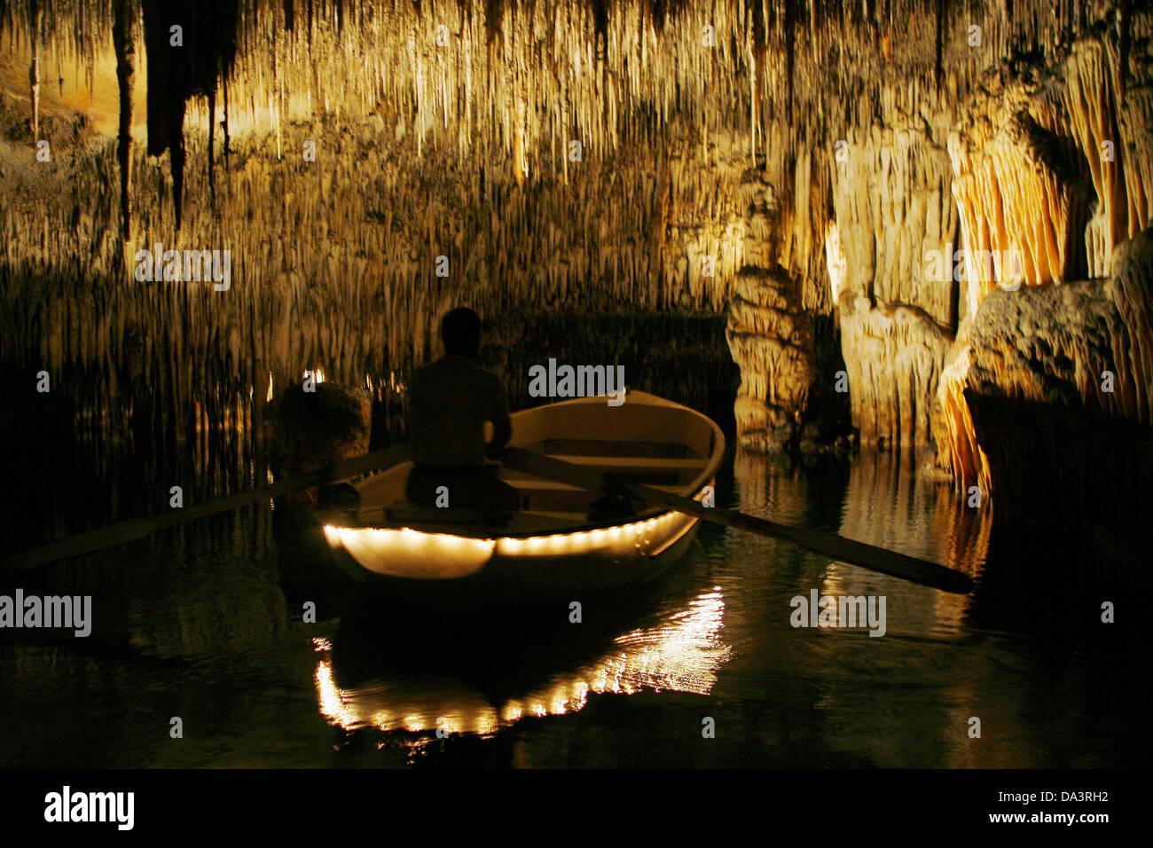 Inside The Cuevas Del Drach Caves In Spanish Island Of Mallorca