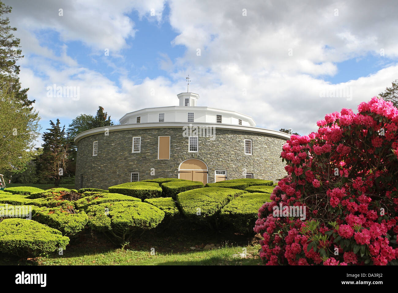 The Round Barn At Heritage Museum And Gardens In Sandwich Stock
