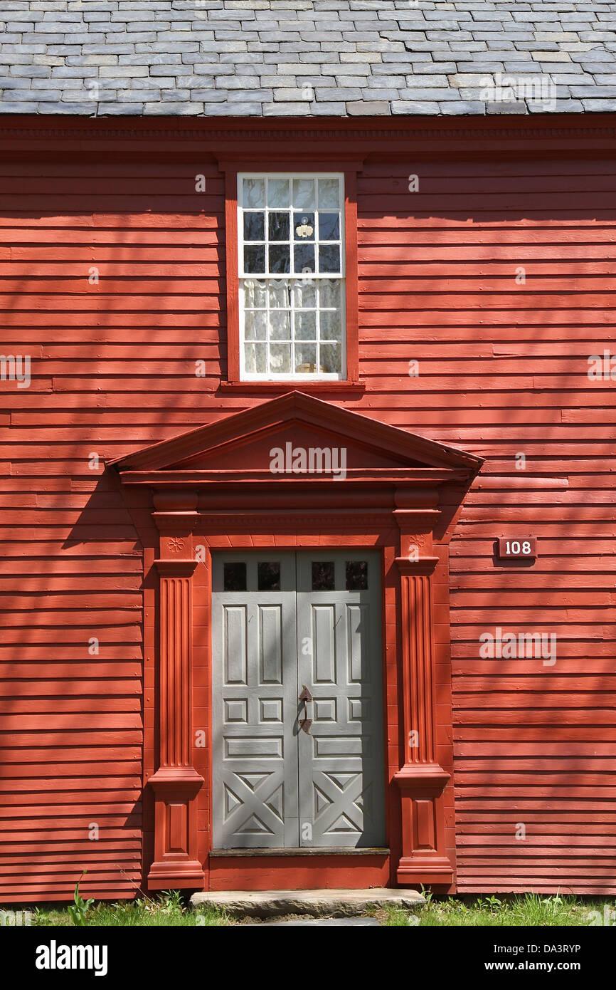 Front door of a home in Old Deerfield Massachusetts & Front door of a home in Old Deerfield Massachusetts Stock Photo ...