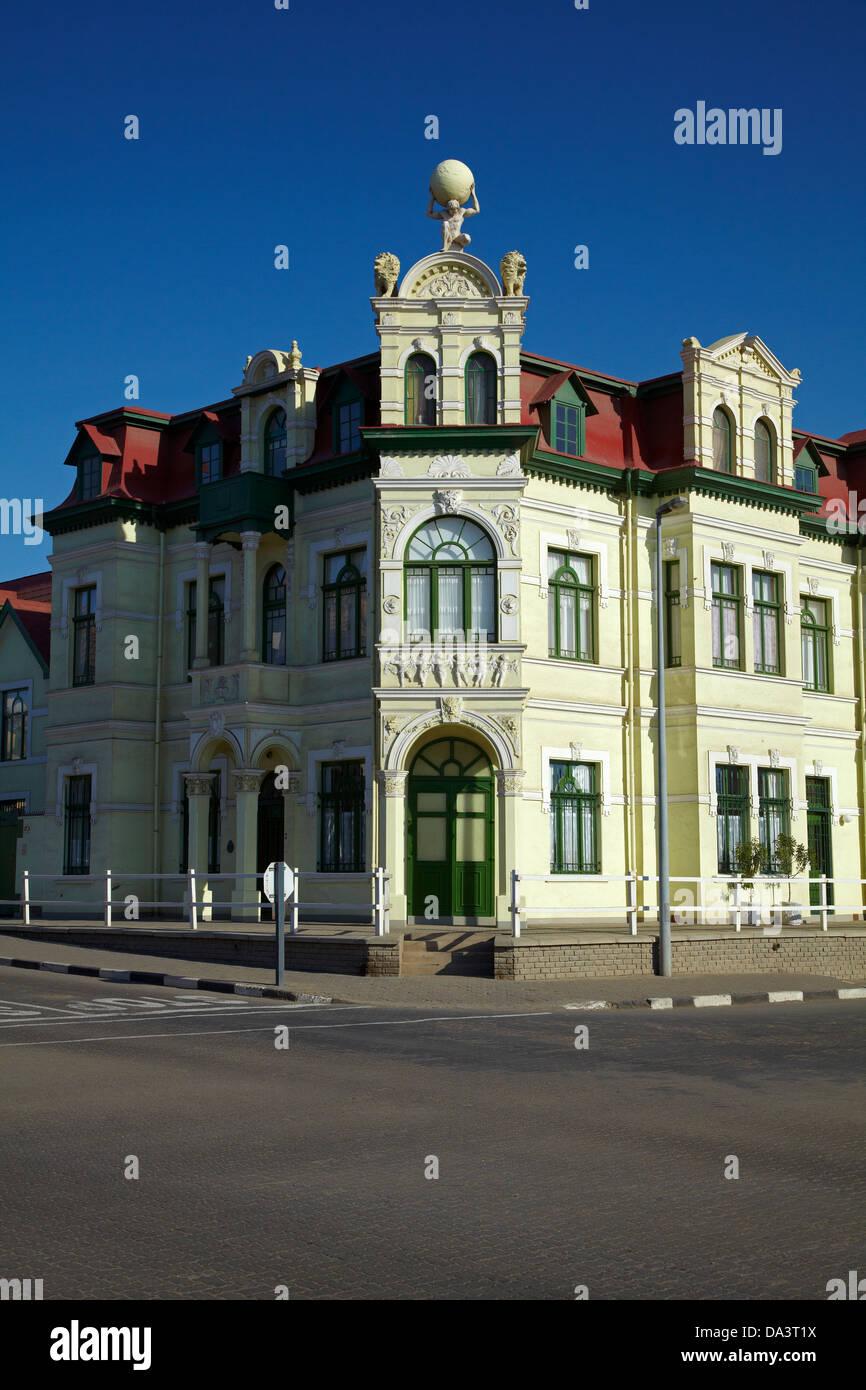 Historic Hohenzollern Building (1906), Swakopmund, Namibia, Africa - Stock Image