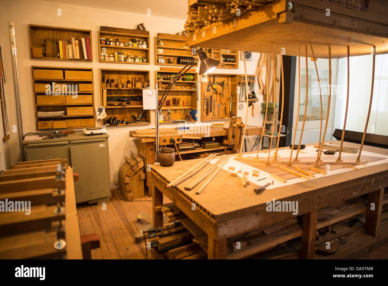 BRUSSELS, Belgium - The Musee des Instruments de Musique (Musical Instrument Museum) in Brussels contains exhibits Stock Photo