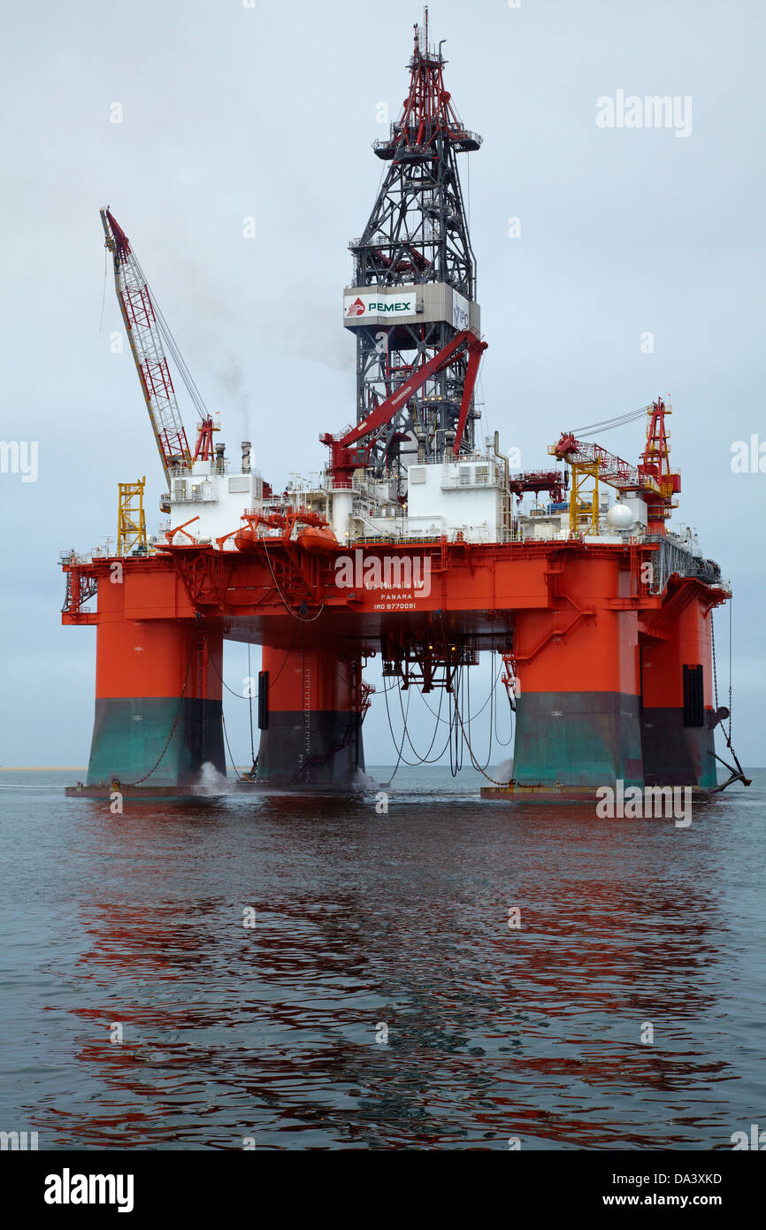 Oil Rig, Walvis Bay, Namibia, Africa Stock Photo