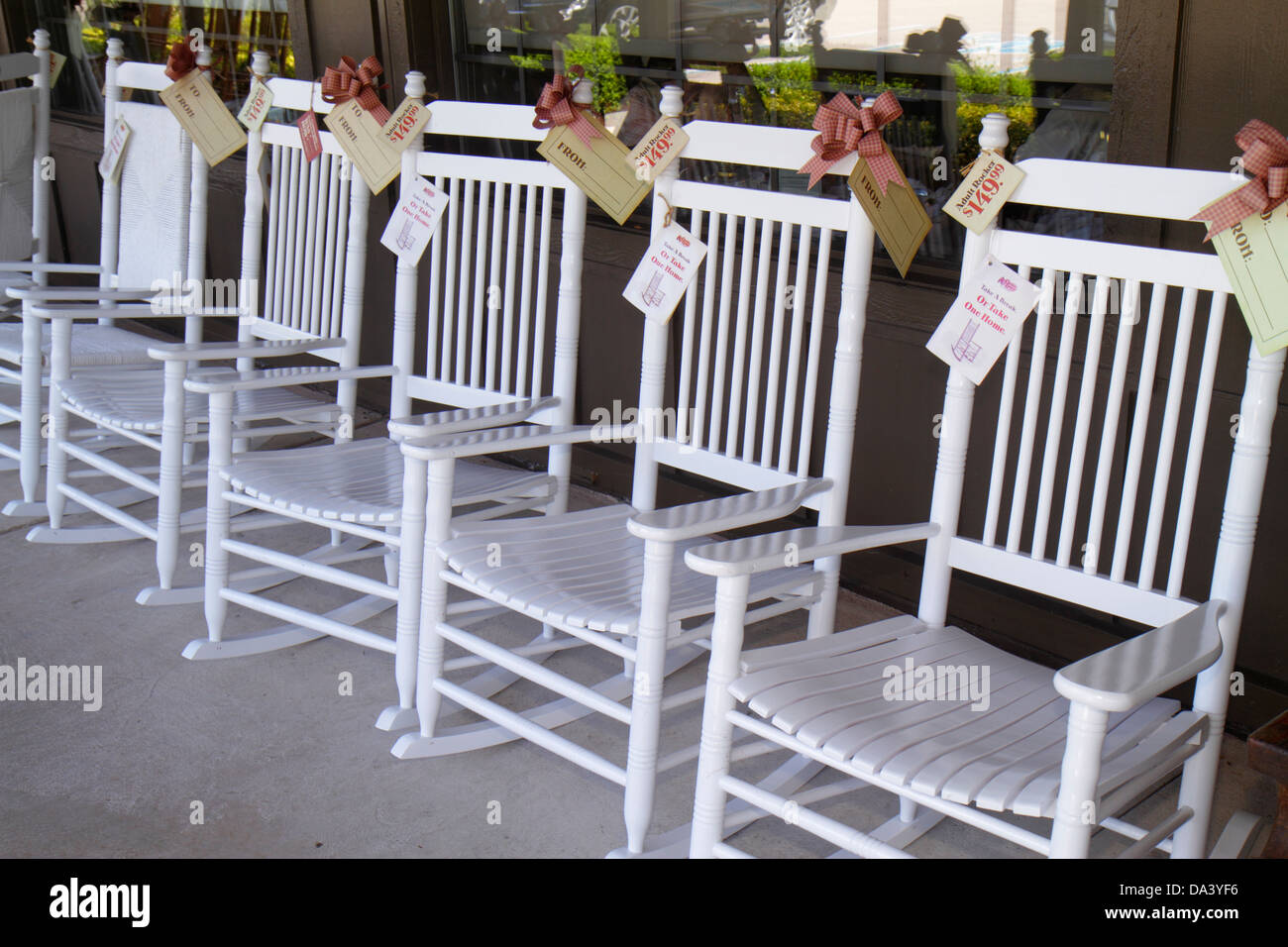 Stuart Florida Cracker Barrel Restaurant Old Country Store Porch Rocking  Chairs Rockers For Sale Americana