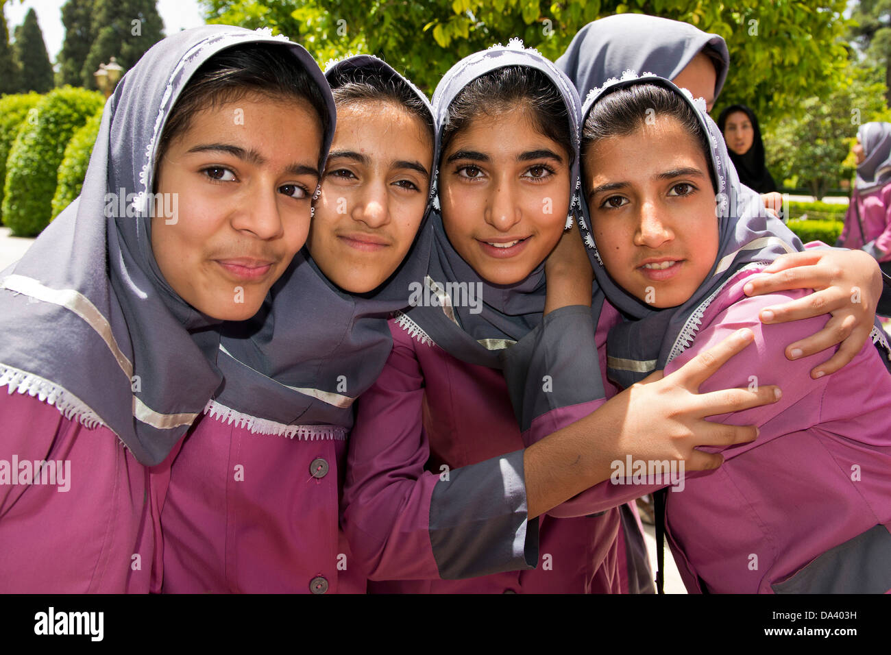 Asia, Iran, Shiraz, Eram And Nerejestan Garden, Girls