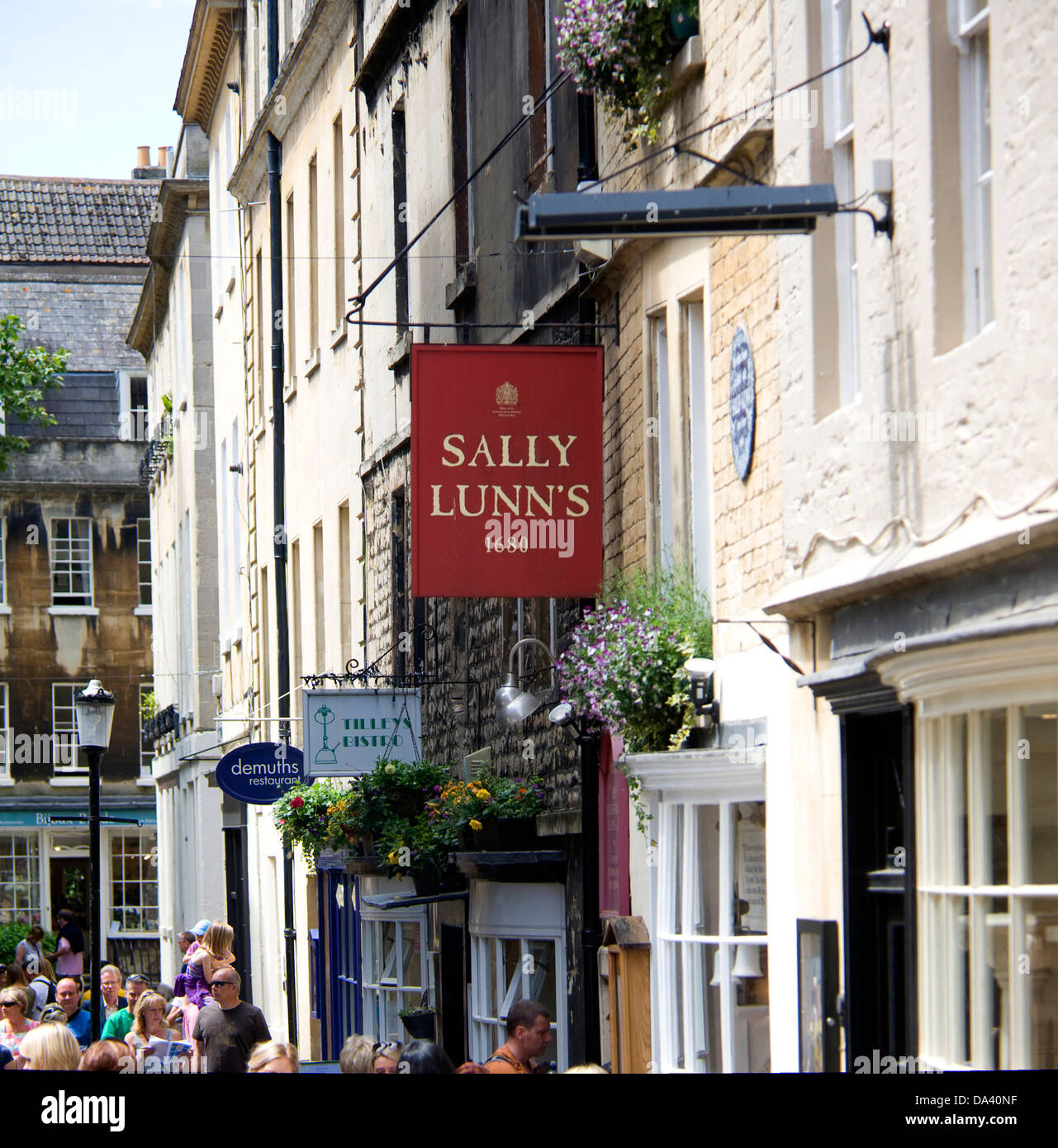 Sally Lunn's tearooms Bath Somerset England Stock Photo