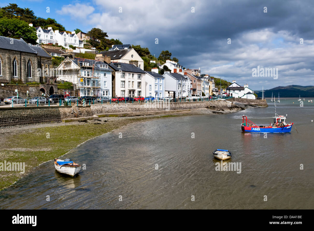 Picturesque sea front at Aberdovey (or Aberdyfi) Gwynedd, Wales, UK taken on fine day Stock Photo