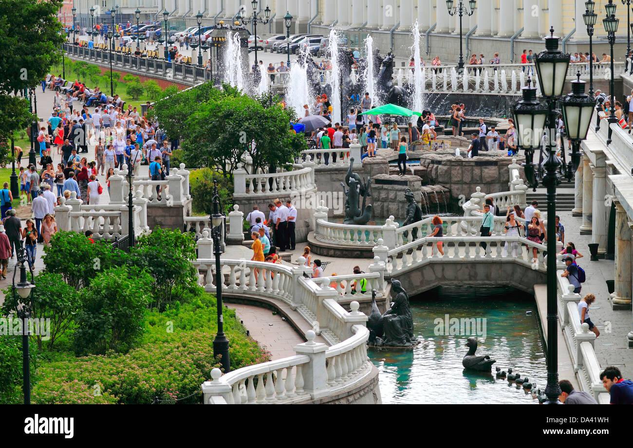 Alexandrovsky garden, river - Stock Image