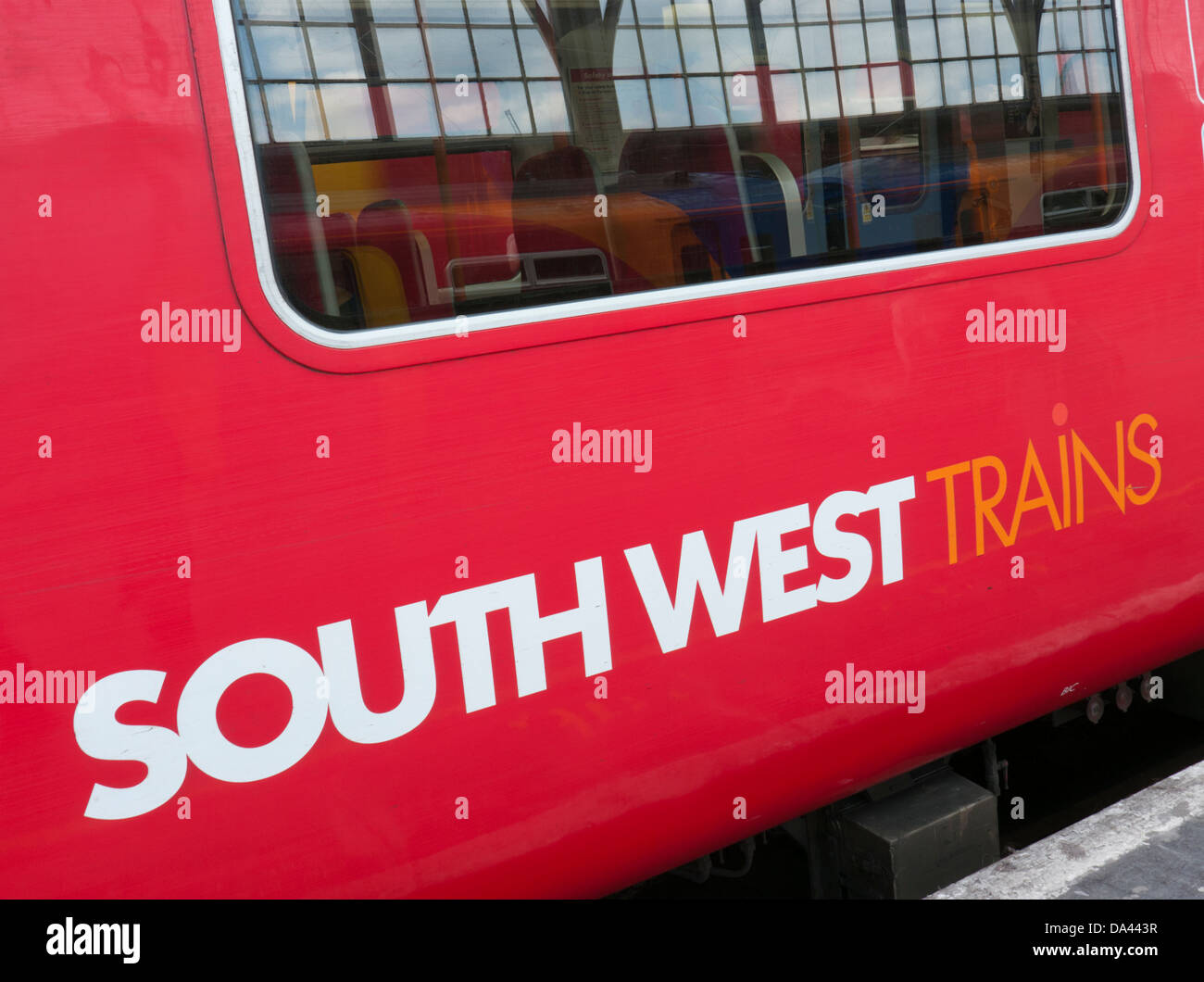 South West Trains in Britain - Stock Image