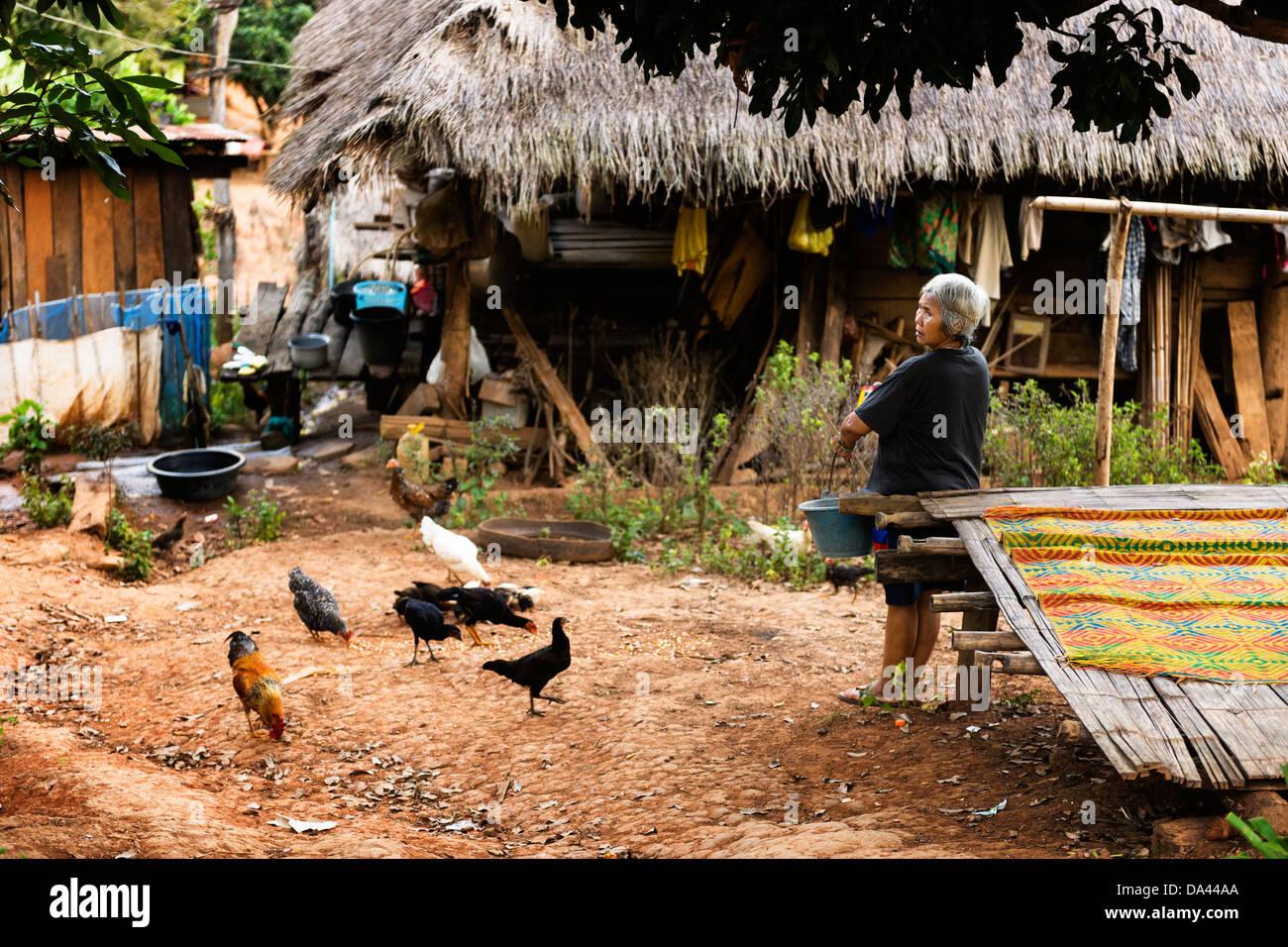 Ban Chang (Hilltribe Village), Mae Taeng, Chiang Mai. - Stock Image