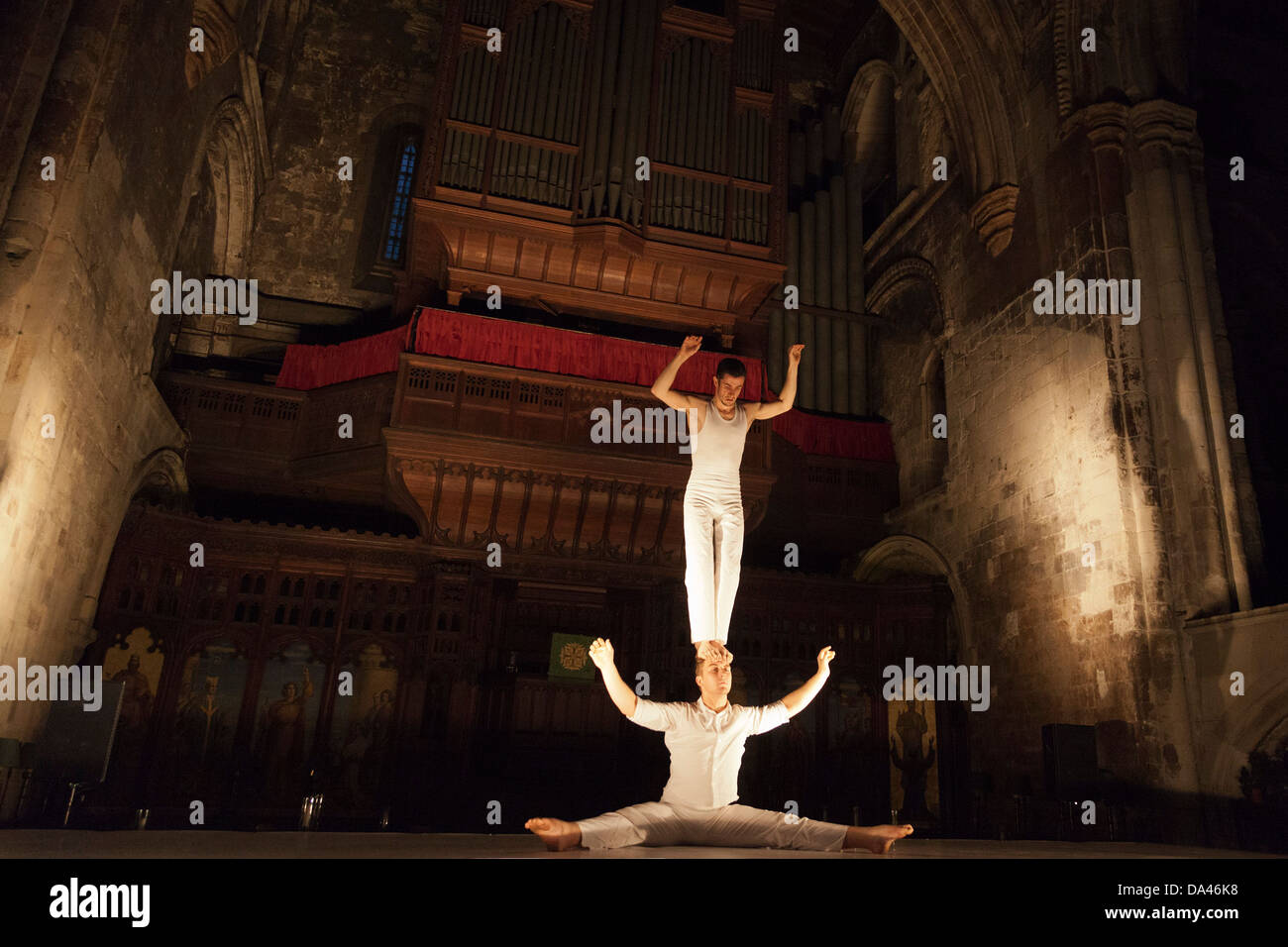 Circa and I Fagiolini present 'How Like An Angel', a 'Beyond Barbican' production as part of the - Stock Image