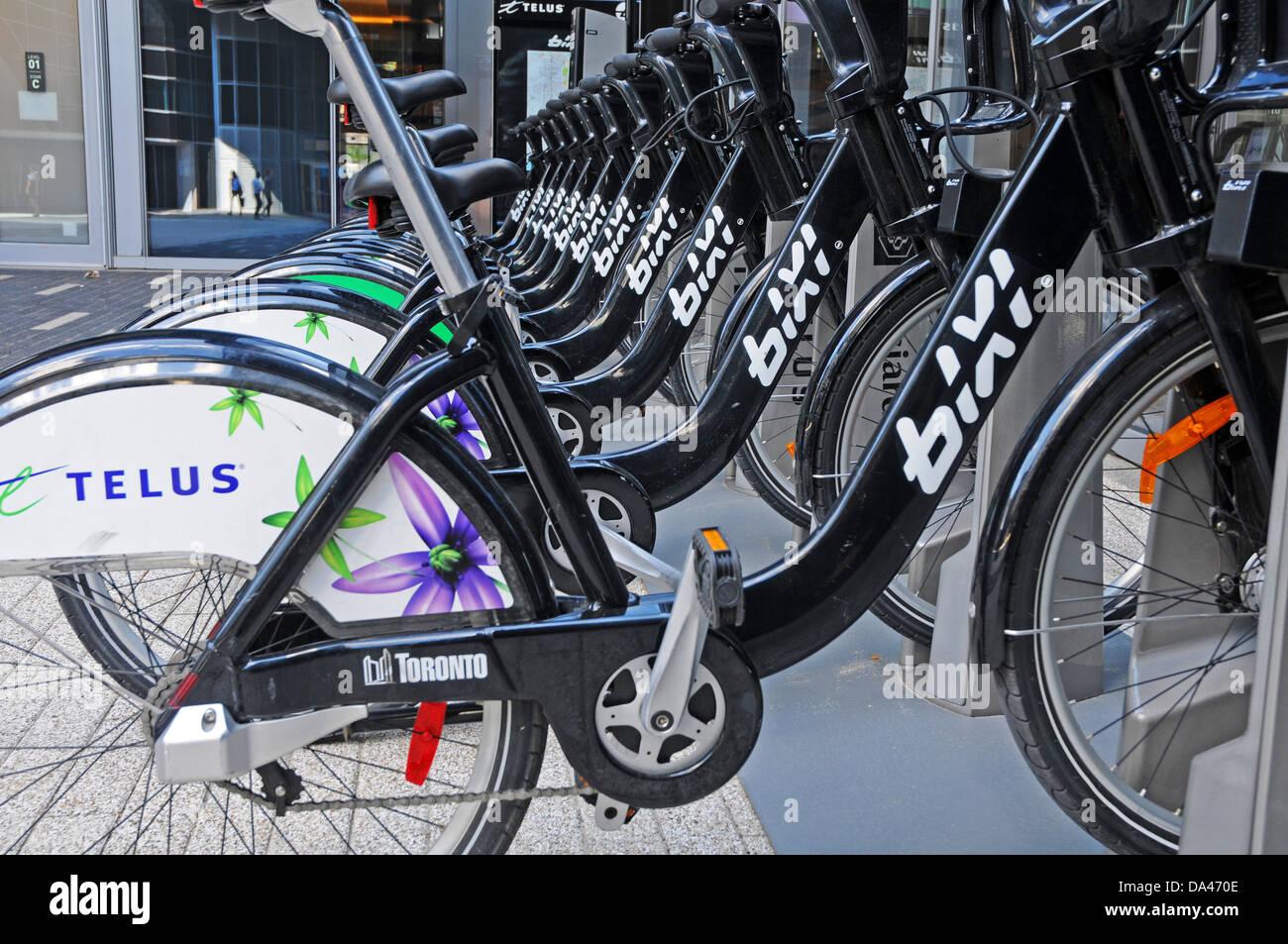 City bikes Toronto - Stock Image