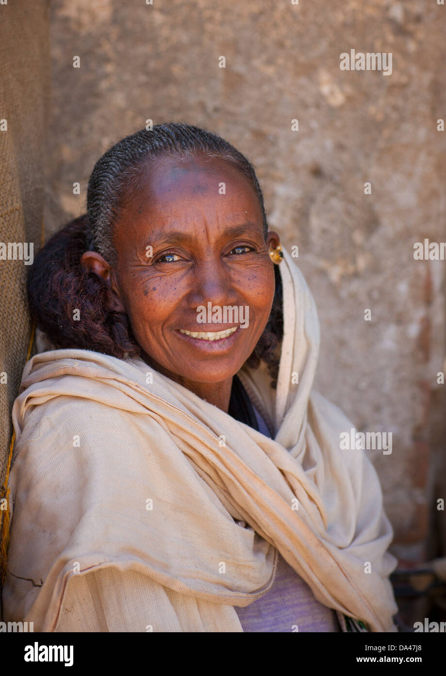 Old Woman With An Eritrean Hairstyle Mendefera Eritrea