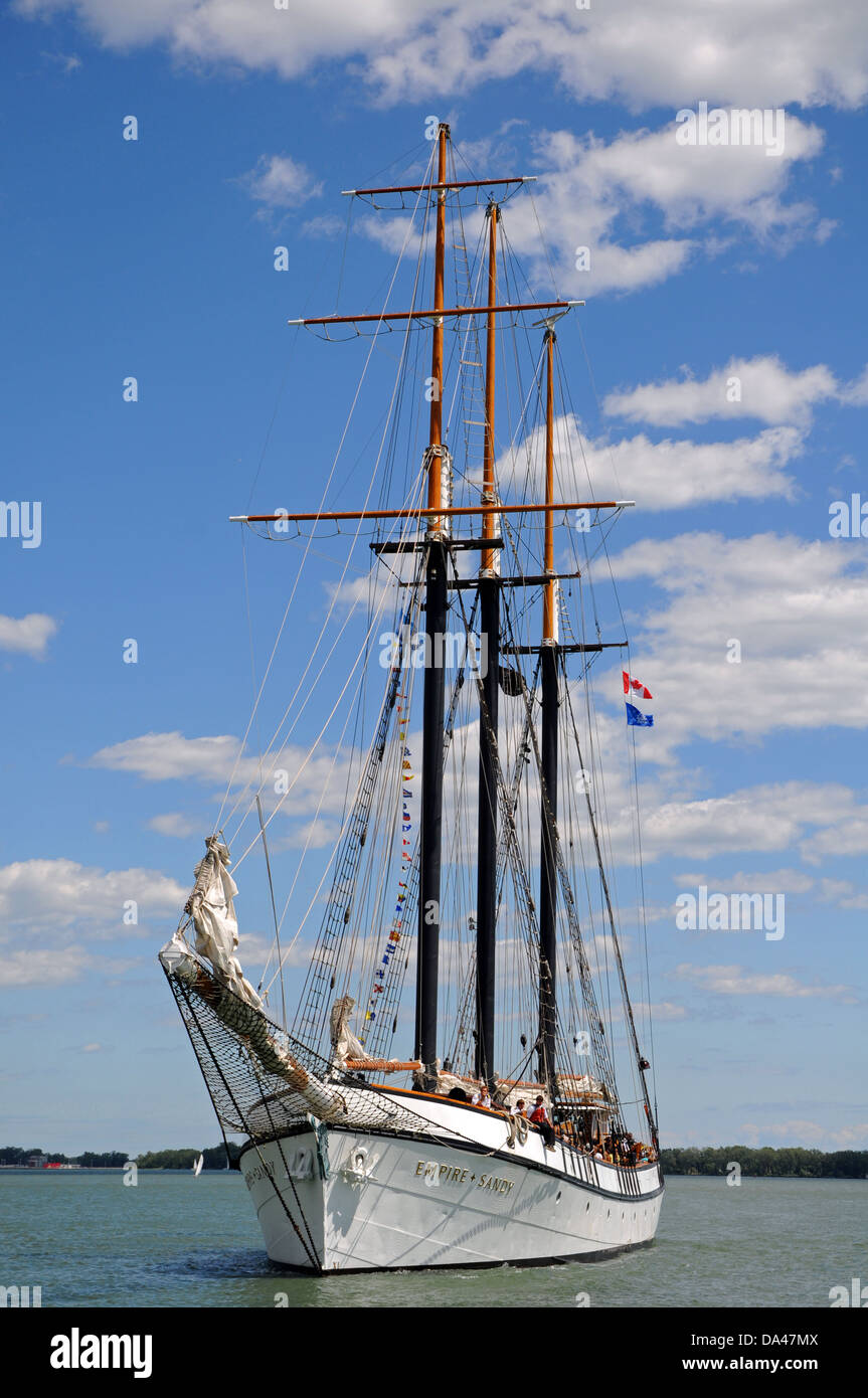 Sail boat in lake Ontario - Stock Image