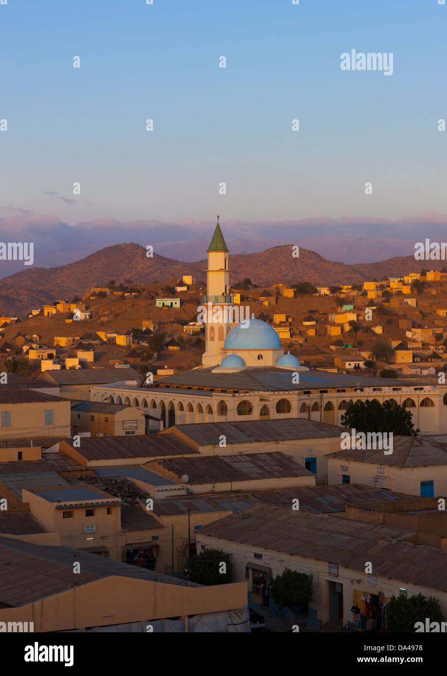 Overvoew Of The Town, Keren, Eritrea - Stock Image